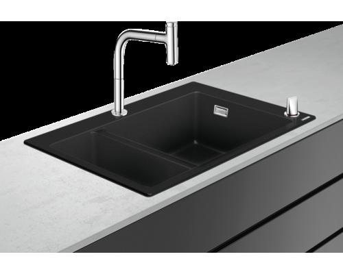 Кухонная комбинация Hansgrohe 180 x 450, C51-F635-09, смеситель хром