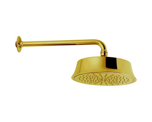 Верхний душ Cisal Shower D220 мм с настенным держателем L270 мм, золото