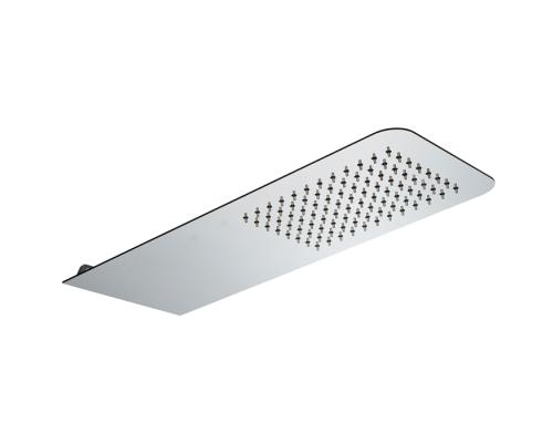 Верхний душ Cisal Xion настенный 500x200 мм, нержавеющая сталь