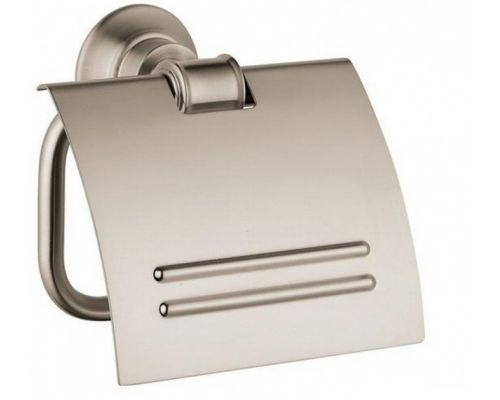 Держатель туалетной бумаги Axor Montreux 42036820, с крышкой, шлифованный никель