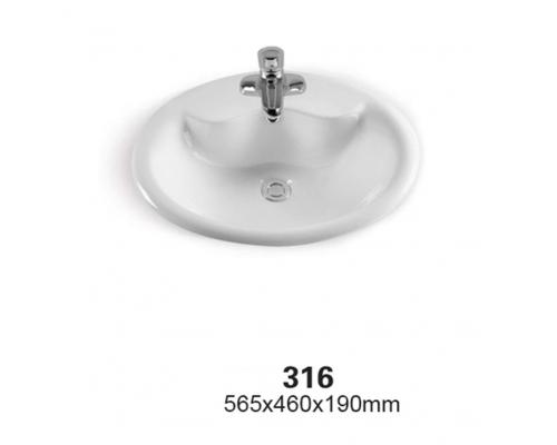 Раковина CeramaLux Серия 316, белый