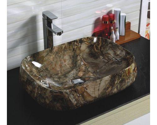 Раковина CeramaLux Серия 186 накладная, под камень