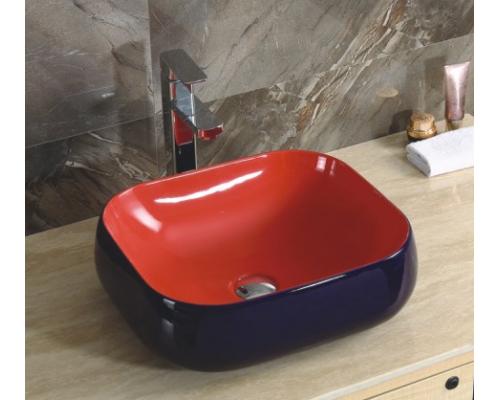 Раковина CeramaLux Серия 355 накладная, красный