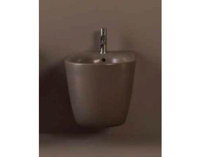 Биде Kerasan Nolita подвесное 55 х 35 см, 532575*1, c креплением WB9N, цвет Borgogna matt