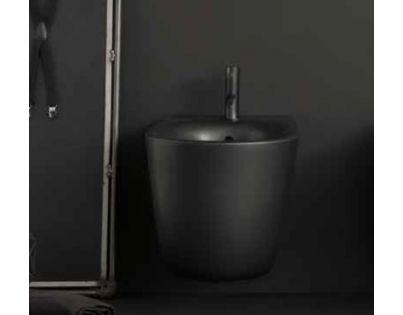 Биде Kerasan Nolita подвесное 55 х 35 см, 532531*1, c креплением WB9N, цвет черный матовый