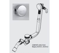 Слив-перелив Kaldewei Comfort-Level Plus мод. 4012 6877.7238.0999 с функцией налива, удлиненный