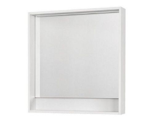 Зеркало Акватон Капри 1A230402KP010 80 x 85 см настенное с подсветкой, цвет белый глянцевый
