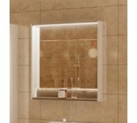 Зеркало Акватон Капри 1A230402KPDB0 80 x 85 см настенное с подсветкой, цвет таксония темная