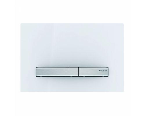 Клавиша Geberit Sigma Type 50 115.788.11.2, двойной смыв, цинковое литье, белый
