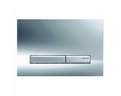 Клавиша Geberit Sigma Type 50 115.788.21.2, двойной смыв, цинковое литье, глянцевый хром