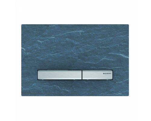 Клавиша Geberit Sigma Type 50 115.788.JM.2, двойной смыв, цинковое литье, сланец mustang