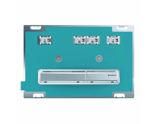 Клавиша Geberit Sigma Type 50 115.788.00.2, двойной смыв, цинковое литье, без панели