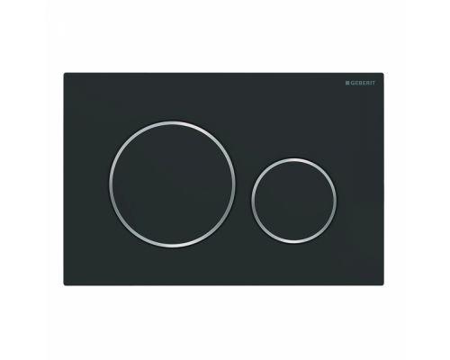 Клавиша Geberit Sigma Type 20 115.882.14.1, двойной смыв, черный (не оставляет отпечатки пальцев)