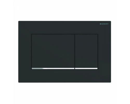 Клавиша Geberit Sigma Type 30 115.883.14.1, пластик, черный/хром матовый (не оставляет отпечатки пальцев)