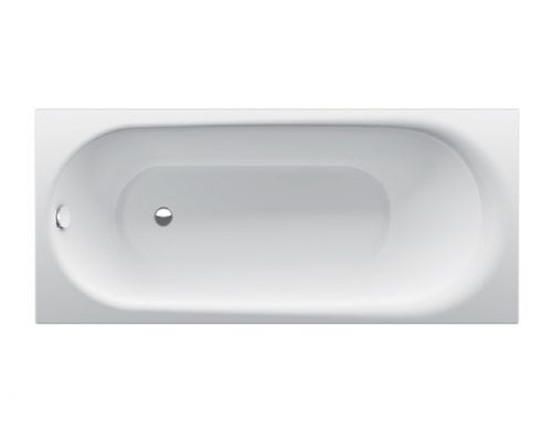 Ванна стальная Bette Comodo 1251-000 180 х 80 х 45 см с шумоизоляцией, белая