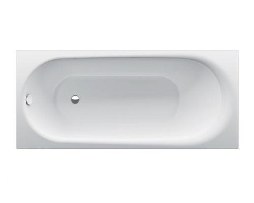 Ванна стальная Bette Comodo 1251-000 PLUS AR 180 х 80 х 45 см с шумоизоляцией, с BetteGlasur ® Plus, антислип, белая