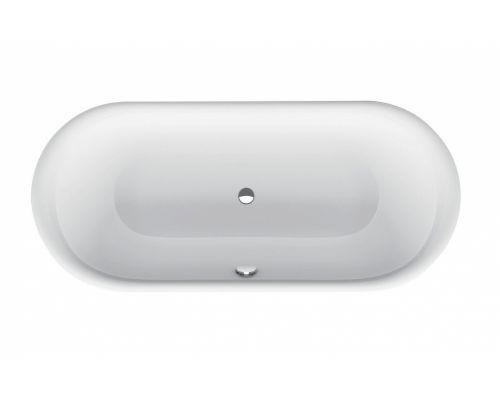 Ванна стальная Bette Lux Oval 3466-000 PLUS AR 180 х 80 х 45 см с шумоизоляцией, с BetteGlasur ® Plus, антислип, белая, (для удлиненного слива-перелива)