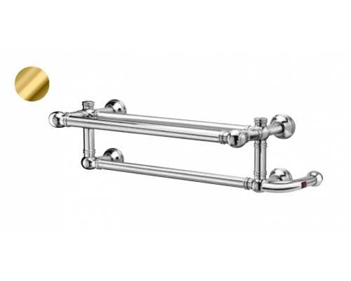 Полотенцесушитель Margaroli Armonia 9-592 95925502GOBP Box электрический c полкой 55 x 22.5 см, золото