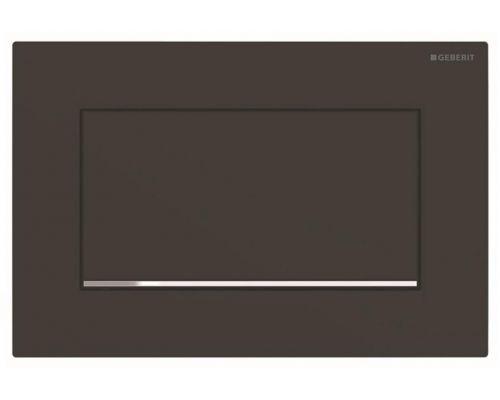 Клавиша Geberit Sigma Type 30 115.893.14.1, черный, смыв/стоп (не оставляет отпечатки пальцев)