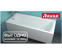 Комплект 5 в 1: ванна акриловая Ravak Set Domino Plus 70508015, 170 х 75 см
