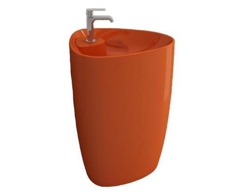 Раковина Bocchi Etna моноблок 1337-012-0126, оранжевая