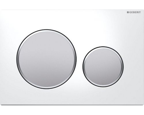 Клавиша Geberit Sigma Type 20 115.882.KL.1, пластик, белый/матовый хром