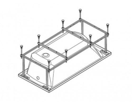 Монтажный комплект Santek 1.WH30.2.488 к ванне акриловой прямоугольной Santek Санторини 170 х 70 см (каркас, комплект креплений к стене, к фронтальной панели, система слив-перелив полуавтомат)