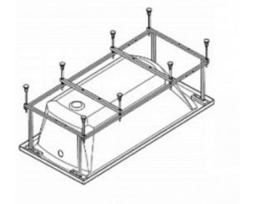 Монтажный комплект Santek Фиджи 170 х 75 см 1.WH50.1.601, каркас, комплект креплений к стене, к фронтальной панели, система слив-перелив полуавтомат