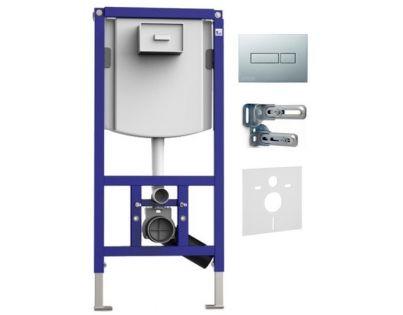 Система инсталляции для унитазов Sanit INEO Plus 90.721.00..S013 + клавиша смыва.