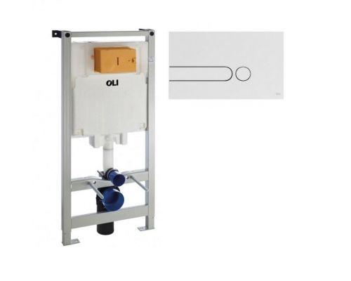 Комплект: инсталляция OLI80 +  iPlate белая кнопка