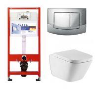 Комплект: инсталляция Tece 9.400.005 + унитаз Roca The Gap 34647L000