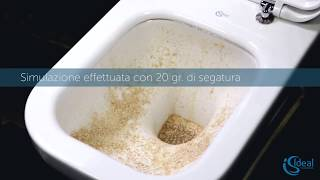 Тест технологии Aquablade от Ideal Standard