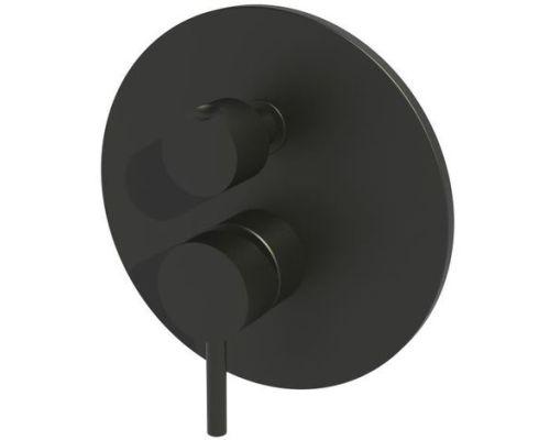 Встраиваемый смеситель на 3 выхода(черный матовый) Paffoni Light LIG019NO